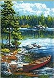 Dimensions Canoe Lake Paint by Numbers Craft Kit