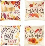 Juvale Thanksgiving Throw Pillow Covers