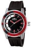 Invicta 12845 Specialty Black Dial Watch with Red/Black Bezel