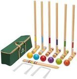 ApudArmis 6-Player Premium Pine Croquet Set