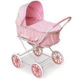Badger Basket Pink Rosebud 3-in-1 Doll Pram