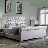 Best Master Furniture Jean-Carrie Upholstered Sleigh Bed