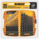 DEWALT Black-Oxide Metal Drill Bit Set