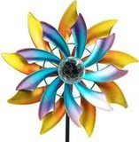MAGGIFT Solar Powered LED Wind Spinner