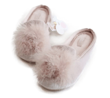 HALLUCI Cozy Velvet Memory Foam House Slippers