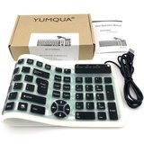 Yumqua Wired Foldable Silicone Keyboard